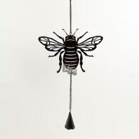 hanger bij met bel metaal 57 cm lang donker bruin