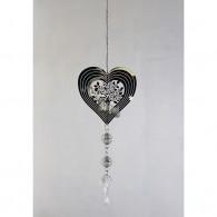 hanger boom in hart metaal 53 cm lang zilver