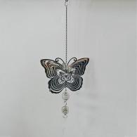 hanger vlinder metaal 53 cm lang zilver
