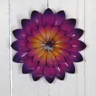 muurdecoratie bloem rond 21.5 cm lila