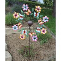 windmolen dubbel vlinders en bloemen