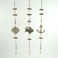 hanger maritiem hout 53 cm lang natuur 3 assortiment design