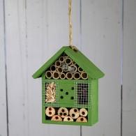 insectenhuis hangend hout groen hoog 20 cm