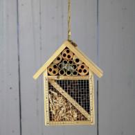 insectenhuis hangend hout naturel hoog 20 cm