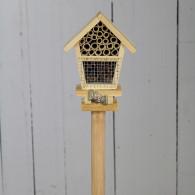 insectenhuis steker hout naturel hoog 65 cm