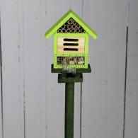insectenhuis steker hout groen hoog 80 cm