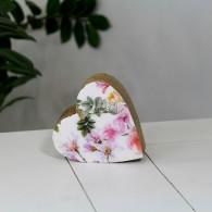 hart mango hout bloemdesign hoog 10 cm