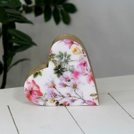 hart mango hout bloemdesign hoog 15 cm