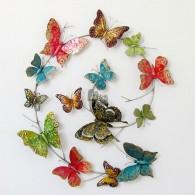 muurdecoratie vlinders bont 59x72 cm op=op