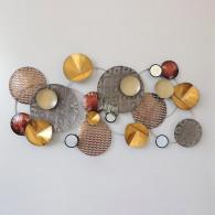 muurdecoratie glamour metaal goud 78x147 cm