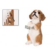 hekdier hond beagle polystone hoog 14 cm