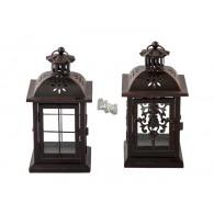 lantaarn Faro antiek bruin 2 assortiment design hoog 24 cm