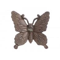 gietijzeren vlinder voor aan de wand