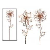 steker bloem (rond25 cm) 2 assortiment design