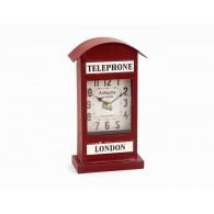 klok staand telephone rood