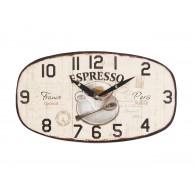 klok hangend espresso hout