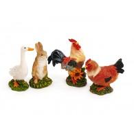 boerderij dieren 4 assortiment design hoog 6 cm