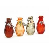 docoratie fles najaar 4 assortiment kleur hoog 14 cm