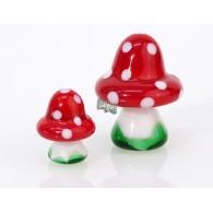 glasfiguur paddenstoel hoog 2 cm op=op