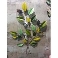muurdecoratie boomtak met spiegeltjes op=op