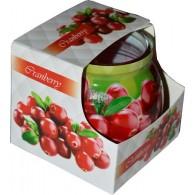 glas met geurkaars cranberry