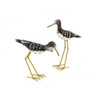 vogel Strandloper metaal 2 assortiment design hoog 40 en 53 cm