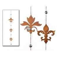 hanger ornament (14 en 17 cm) metaal lang 119 cm
