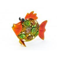 vis  om neer te zetten metaal met glas breed 22 cm