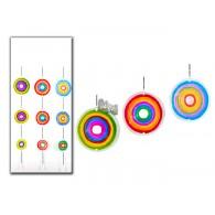 hanger Circle (14x14 cm) glas 3 assortiment kleur  lang 91.5 cm