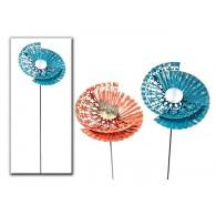 tuinsteker bloem Circle (28x33cm) 2 assortiment kleur hoog 90 cm op=op