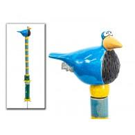 tuinsteker keramiek vogel hoog 1 meter