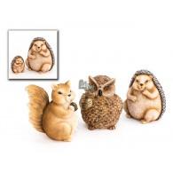 dieren keramiek polystone hoog 14 cm 3 assortiment design