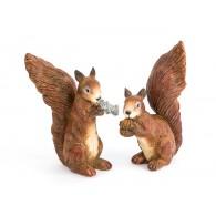 eekhoorn  keramiek hoog 24 cm 2 assortiment design