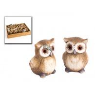 uil keramiek hoog 4 cm verpakt per 24 stuks in houtbox