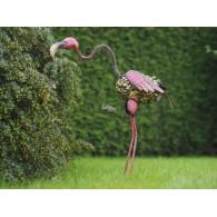 grappige kleurrijke vogel hoog  60 cm