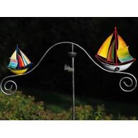 tuinsteker balans zeilboot gekleurd