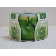 glas met geurkaars green apple