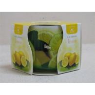 glas met geurkaars lemon