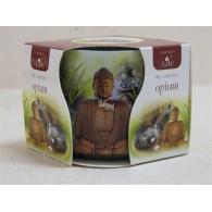 glas met geurkaars opium (boeddha)