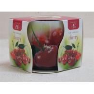 glas met geurkaars cherry (kers)