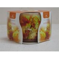 glas met geurkaars herfst