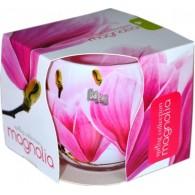 glas met geurkaars magnolia