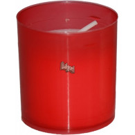 losse kaars voor graf lantaarn wk 60 met bakje 55x50x50 rood
