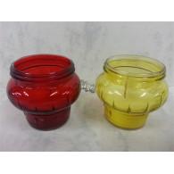herinneringslicht  a 45 80 gram rood geel met vaste kaars