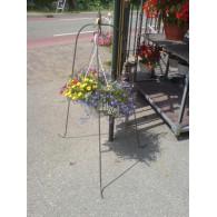 tuinstandaard driepoot voor hanging basket blank hoog 115 cm