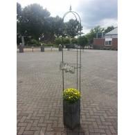 plantgeleider of rozenzuil obelisk systeem complete set in doos hoog 220 cm rond 45 cm massief staal