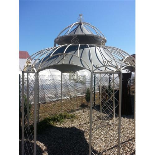 Paviljoen prieel roma rond meter blank staal - Prieel ijzer ...