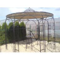 paviljoen prieel 8 kant zwaar rond 3,50 meter blank massief staal (leverbaar vanaf week 14)