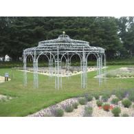 paviljoen prieel 12 kant zwaar rond 5.50 meter gegalvaniseerd massief staal