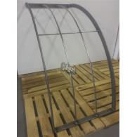 rozenboog/paviljoen prieel zelfbouw systeem staander gebogen 90 graden 40x70x3 blank